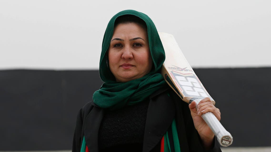 The founder of the national women's team, Afghan Diana Barakzai, poses for a picture at the Kabul Cricket Stadium December 24, 2014. reuters