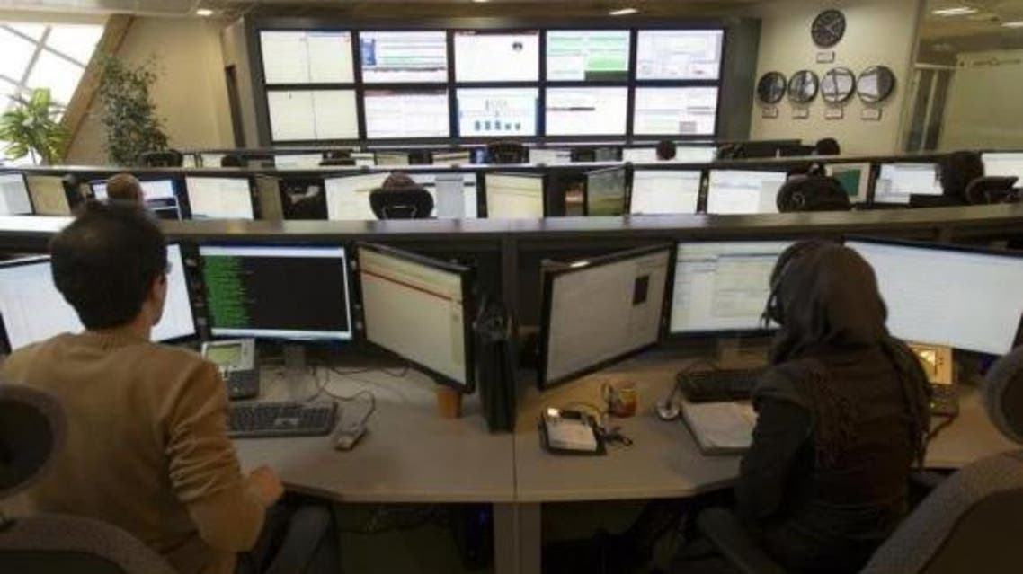 Technicians monitor data flow in the control room of an internet service provider in Tehran Feb. 15, 2011. (Reuters)