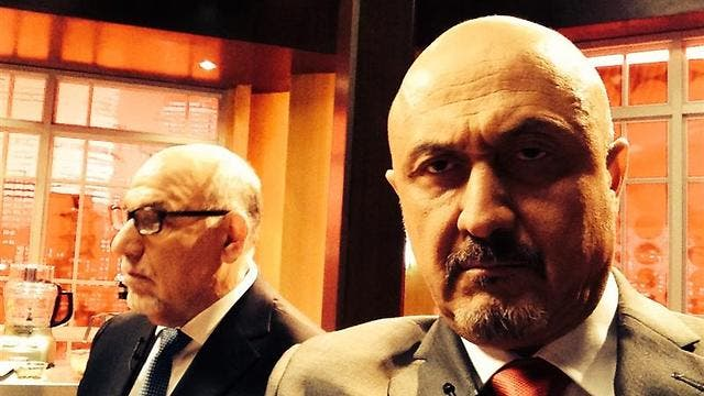 "Alan Blumenfeld (L) and David Diaan here seen on the set of ""The Interview."" (Photo courtesy: Ynet News)"