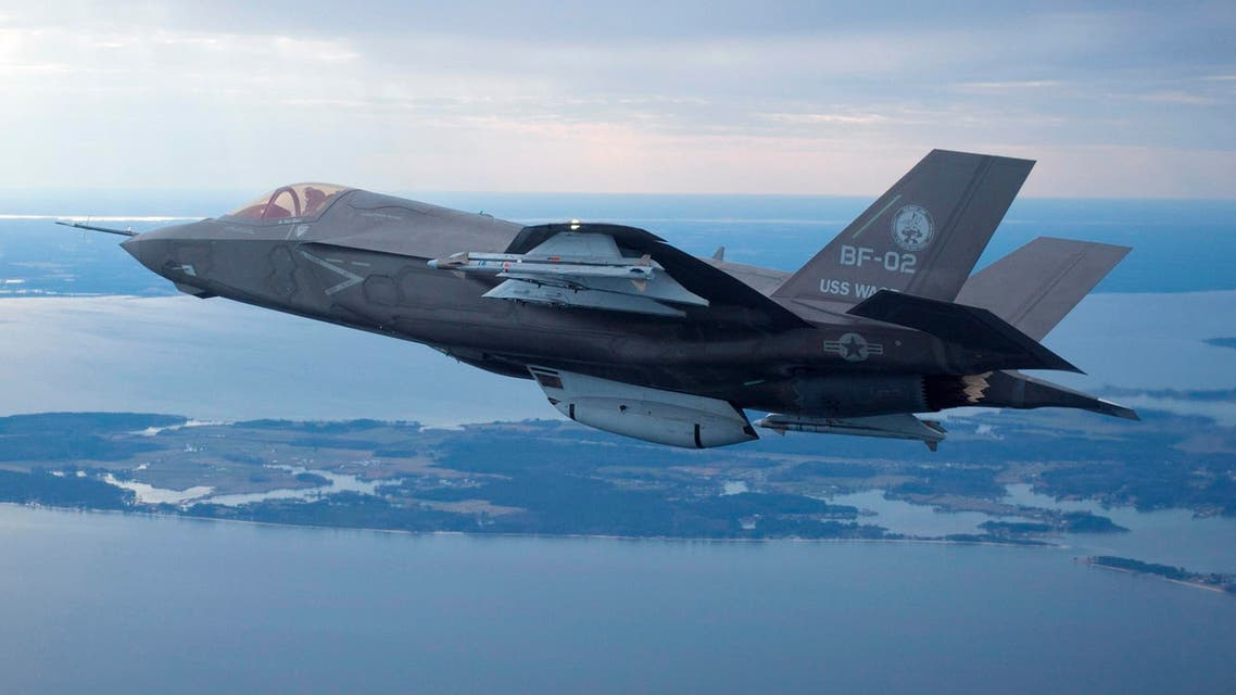 air strikes airstrikes The U.S. Marine Corps version of Lockheed Martin's F35 Joint Strike Fighter, F-35B test aircraft BF-2 flies with external weapons for the first time over the Atlantic test range at Patuxent River Naval Air Systems Command. (File photo: Reuters)