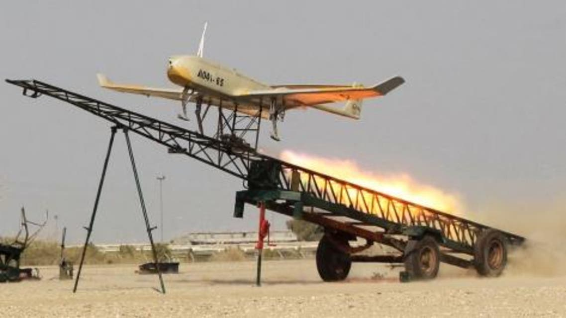 In this picture released on Thursday, an Iranian-made drone is launched during a military drill in southern Iran. (Photo courtesy of Jamejam Online)