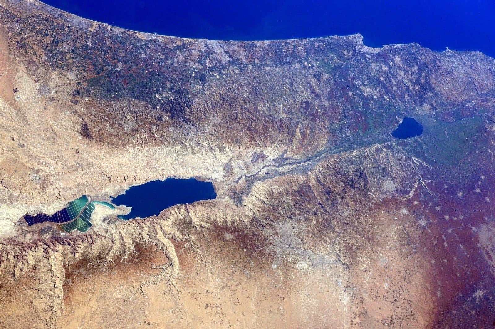 Photo courtesy: NASA/Barry Wilmore nasa dead sea palestine israel