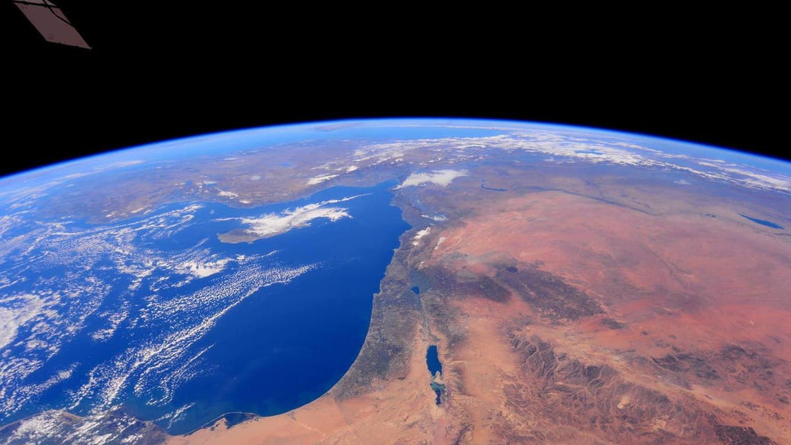 NASA holy land palestine israel outer space Photo credit: NASA/Barry Wilmore
