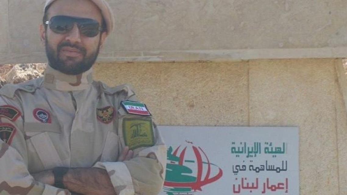 An Iranian Revolutionary Guards soldier poses near the what is purportedly the Lebanese border with Israel. (Photo courtesy of Twitter)