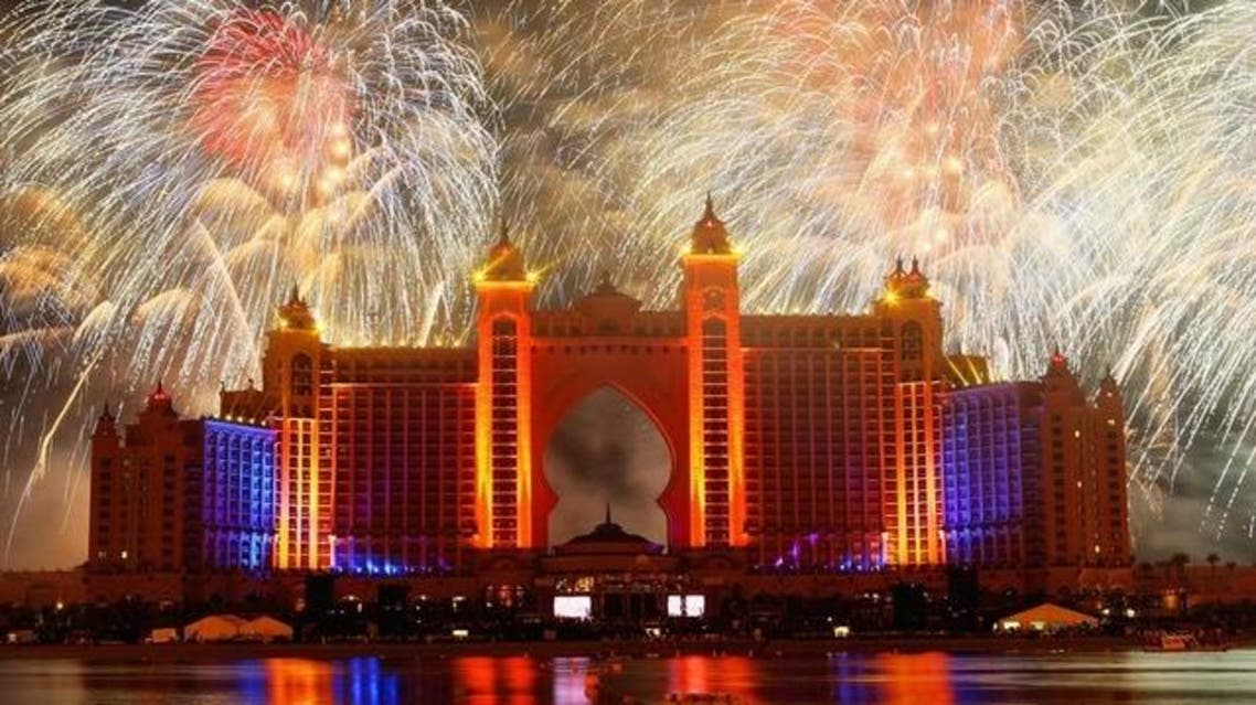 Atlantis The Palm hopes to break the world record for biggest firework display with its New Year's Eve display. AFP