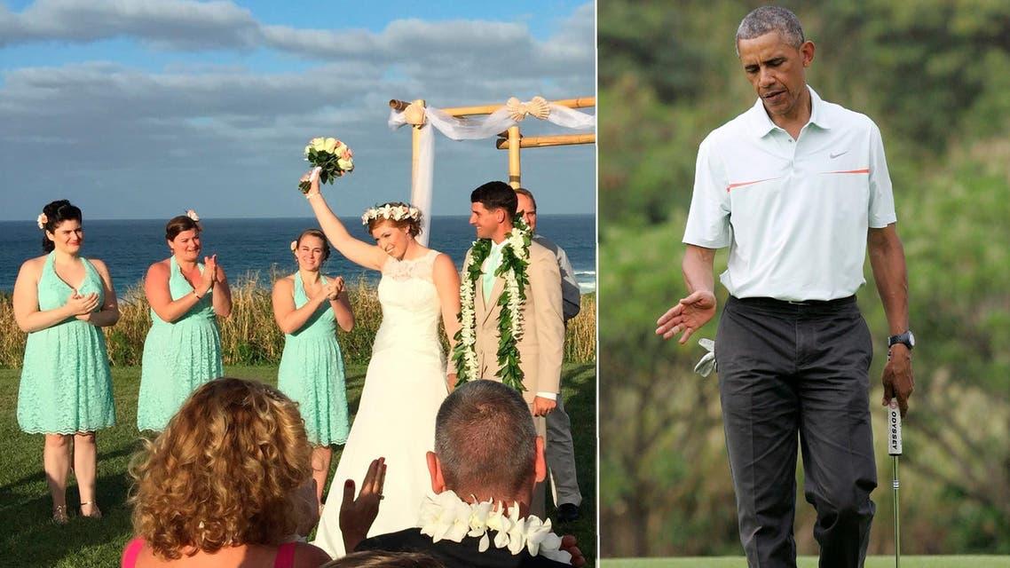 obama golf wedding reuters