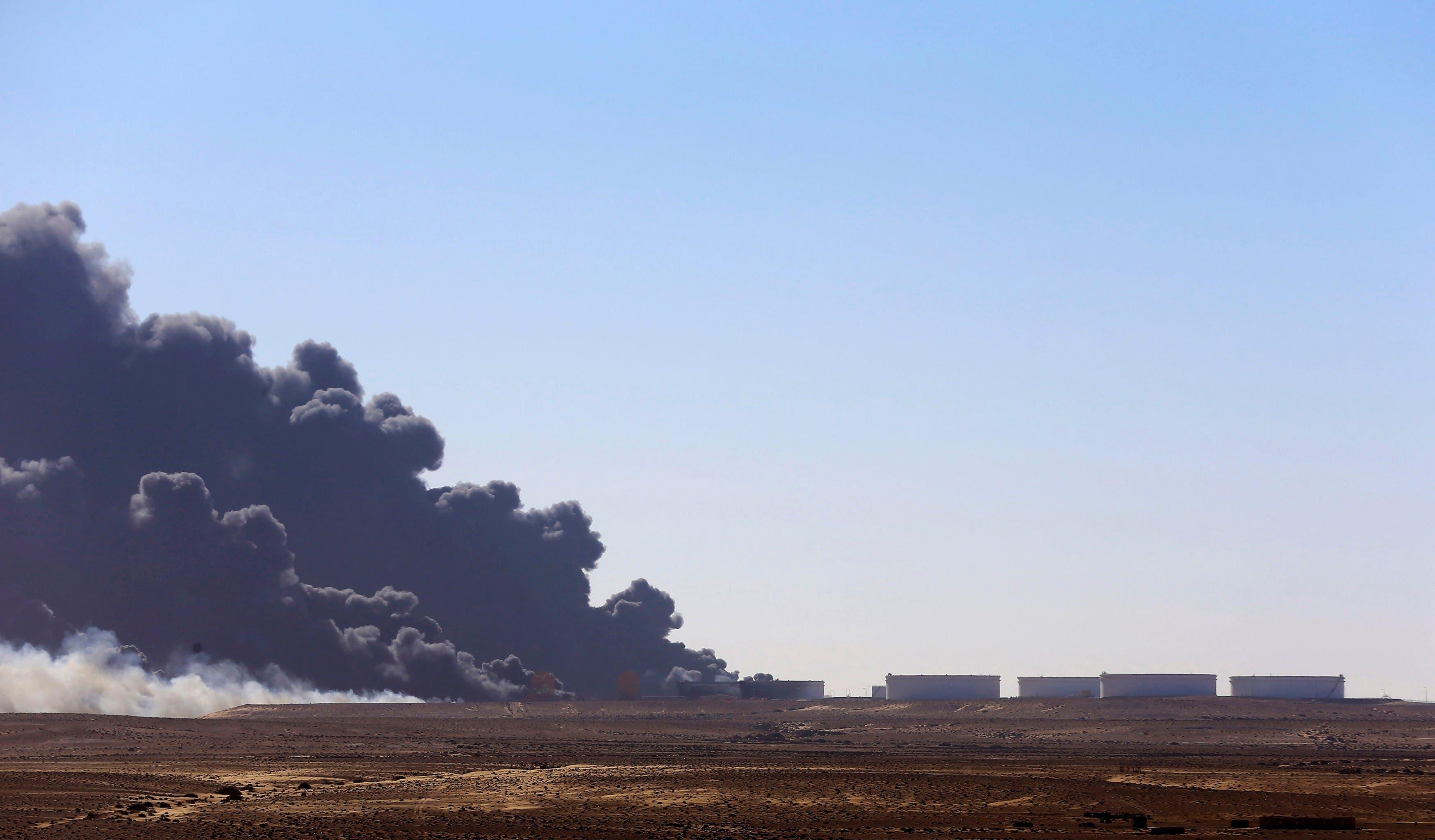 Libya's oil storage tanks on fire