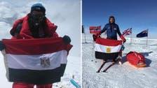 Adventurer raises Egyptian flag at South Pole