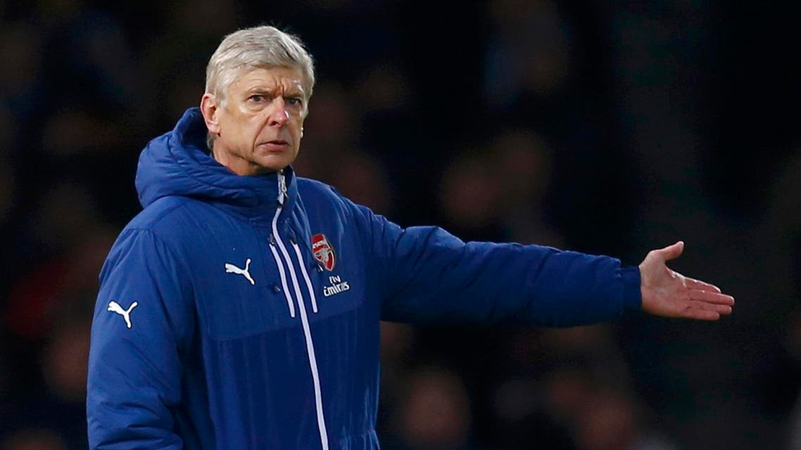 rsenal manager Arsene Wenger reacts during their English Premier League soccer match against West Ham United