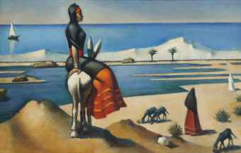 """Mahmoud Saïd,  known as the """"father of modern Egyptian art"""" and saw his piece """"Bergère à Alamein"""