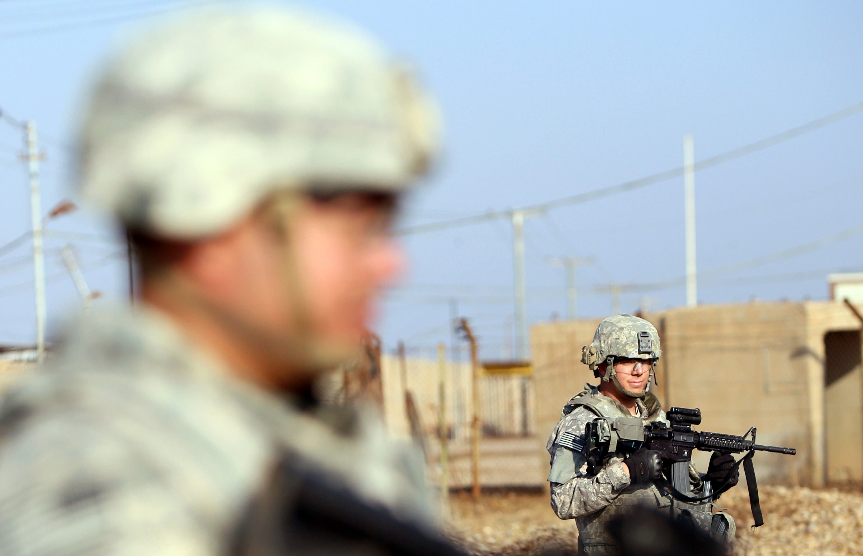File photo of US soldiers patrolling the Taji base complex located 30 kilometers north of the capital Baghdad. (AFP)