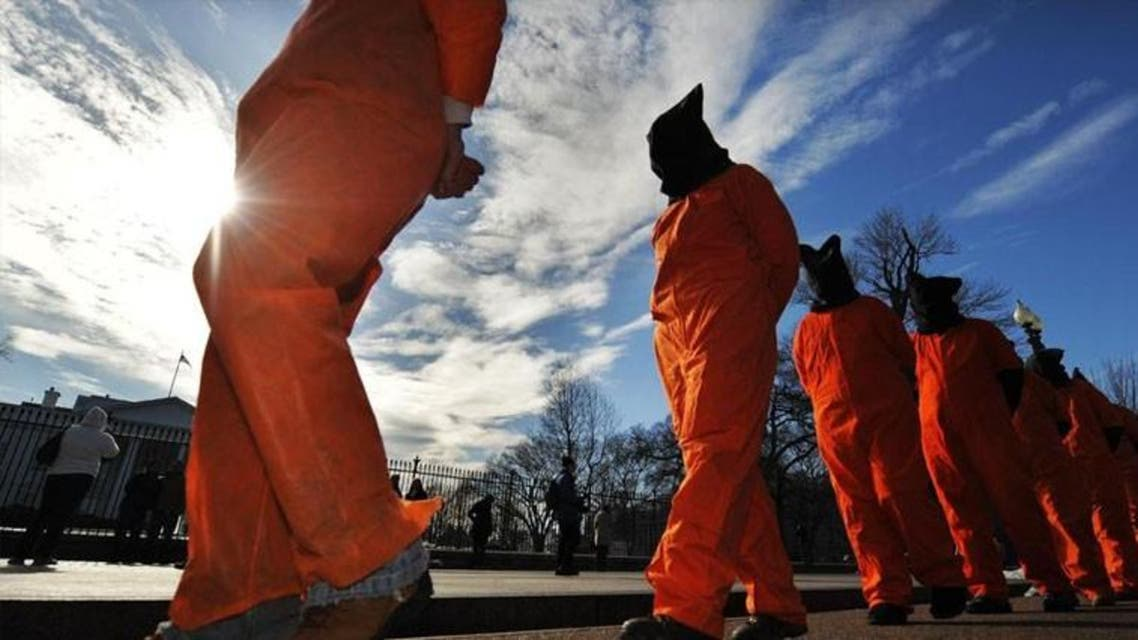 A protest in the U.S. calling for the closure of Guantanamo Bay. (AFP Photo/Jewel Samad)