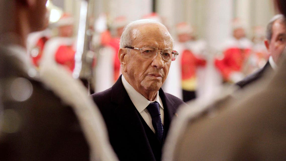 Tunisia's new President Beji Caid Essebsi attends the ceremony of transfer of power at the Carthage Palace in Tunis Dec. 31, 2014.  (Reuters)