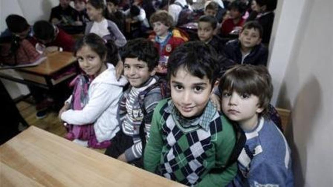 Syrian refugee children attend class at a school for refugee children in Istanbul. (File photo Reuters)