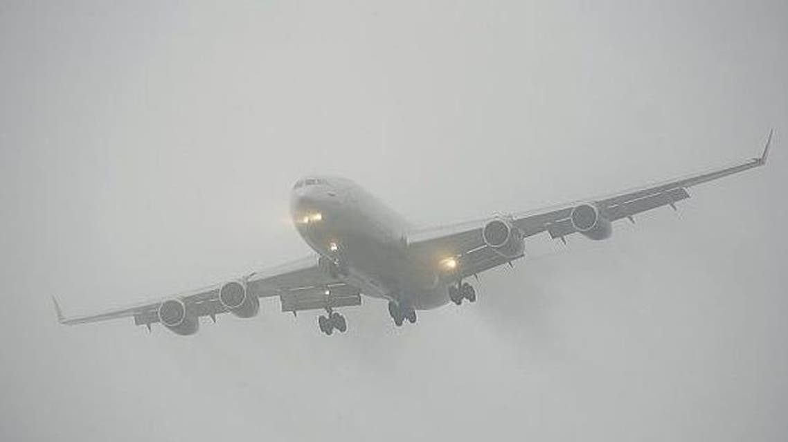 الضباب طيران مطار أبوظبي