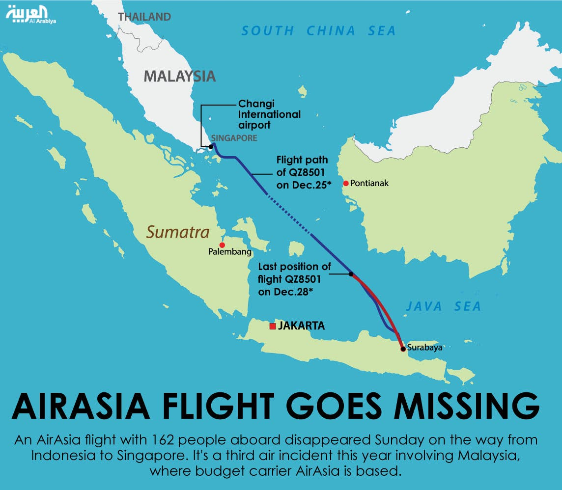 Infographic: AirAsia flight goes missing