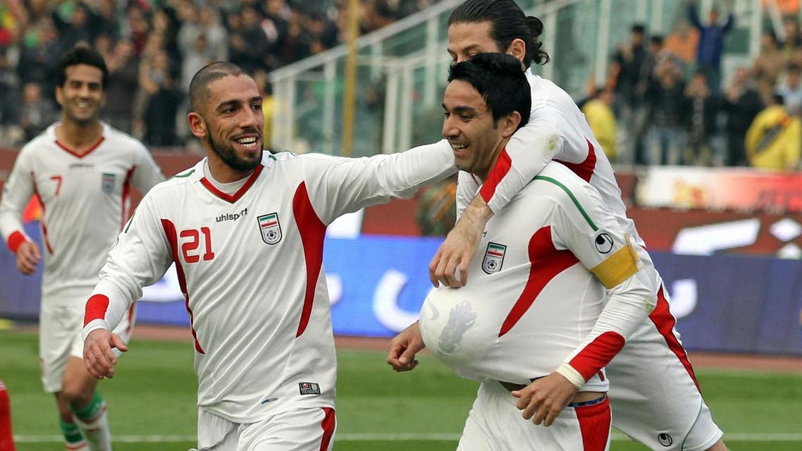 iran football soccer players afp
