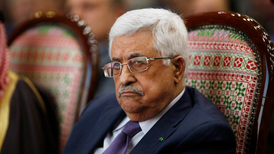 """Palestinian President Mahmoud Abbas attends the opening ceremony of the """"Jerusalem in Memory"""" exhibition in the West Bank city of Ramallah January 4, 2015."""