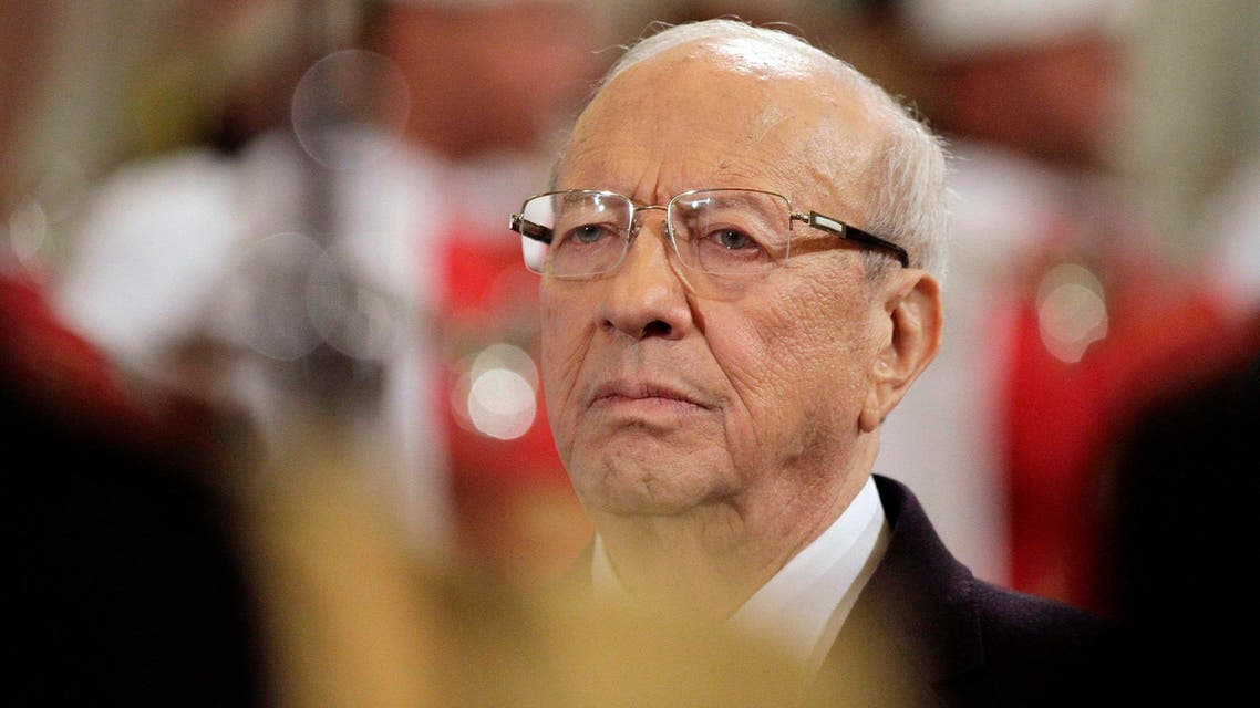Tunisia's new President Beji Caid Essebsi attends the ceremony of transfer of power at the Carthage Palace in Tunis. Reuters