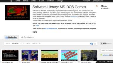 أكثر من 2300 لعبة من نظام MS-DOS على المُتصفح