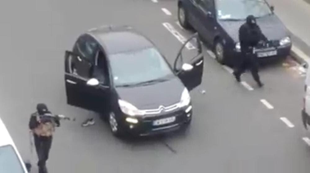 لحظة الهجوم على صحيفة شارلي ايبدو