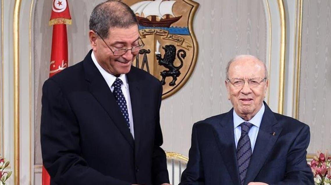 الحبيب الصيد و الرئيس التونسي الباجي قائد السبسي