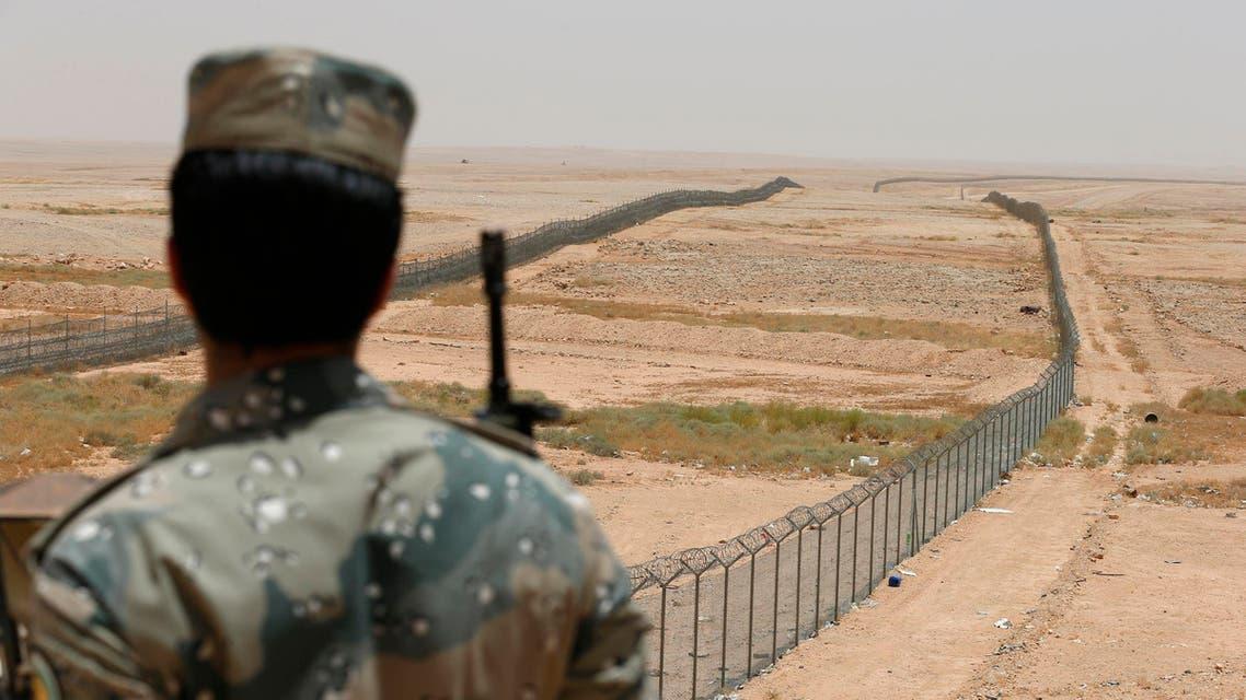 Saudi border guards on border with Iraq Reuters