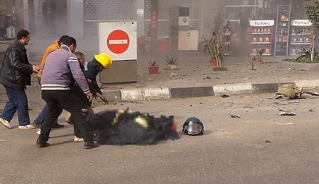 Phone footage captures death of Cairo bomb squad officer AFP