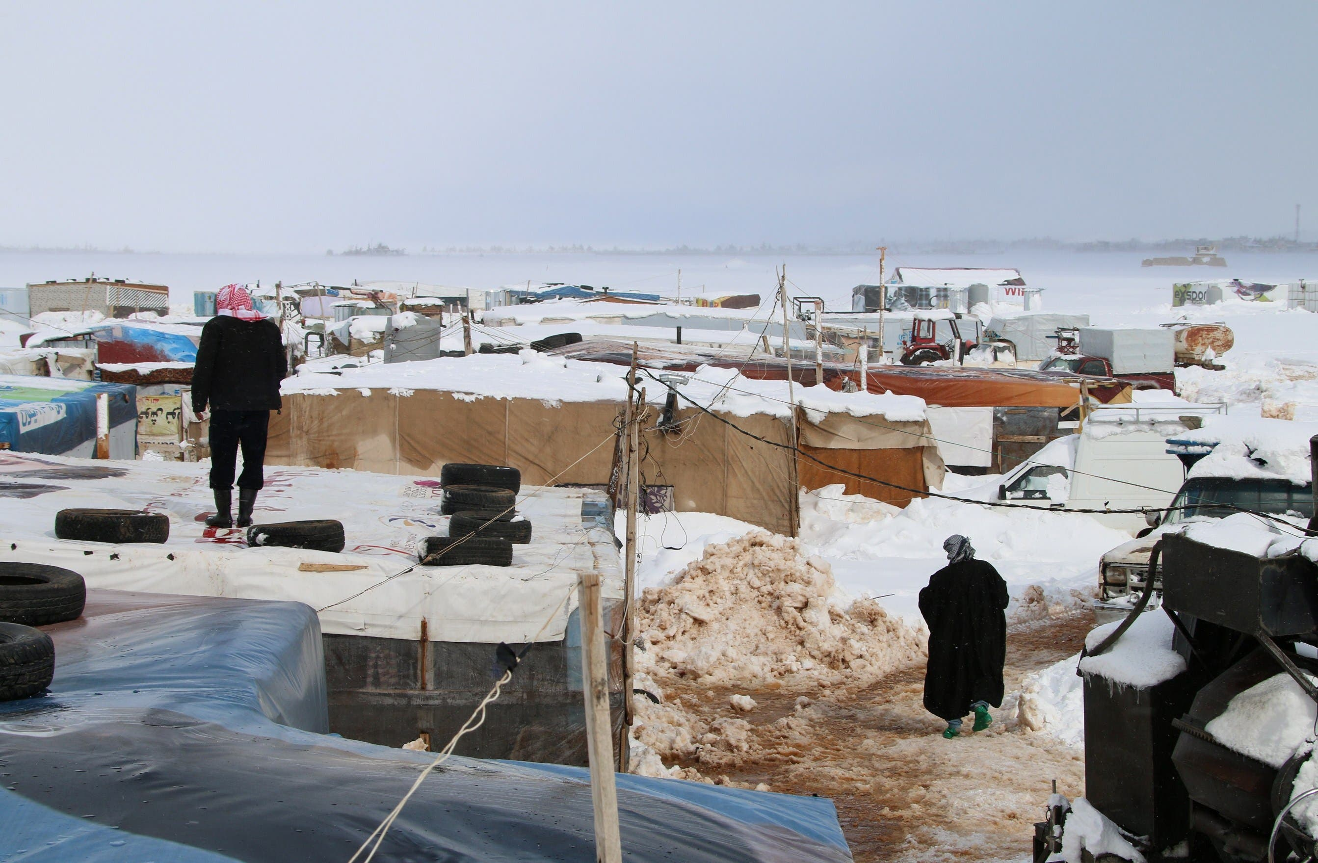 Syrian refugees struggle amid snowfall. (File photo: Supplied)