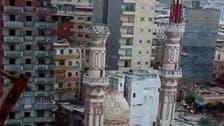 شدید بارش کے باعث مصرمیں مسجد کا مینار زمین بوس