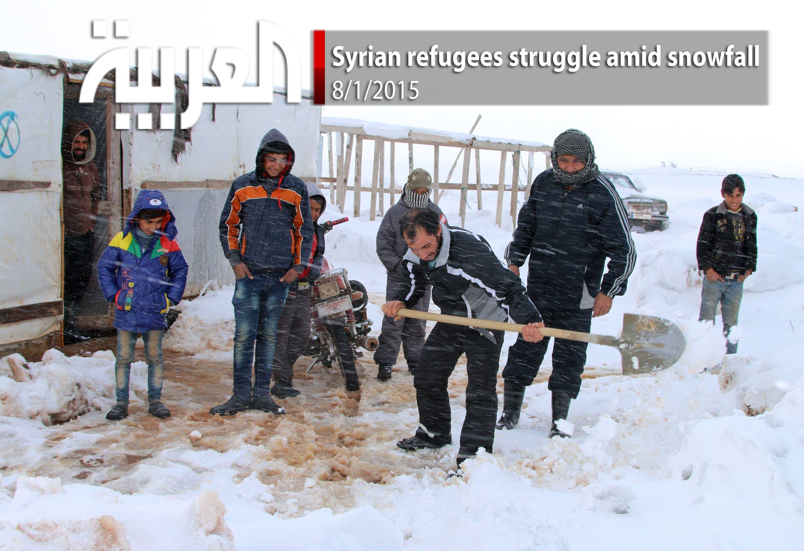 Syrian refugees struggle amid snowfall