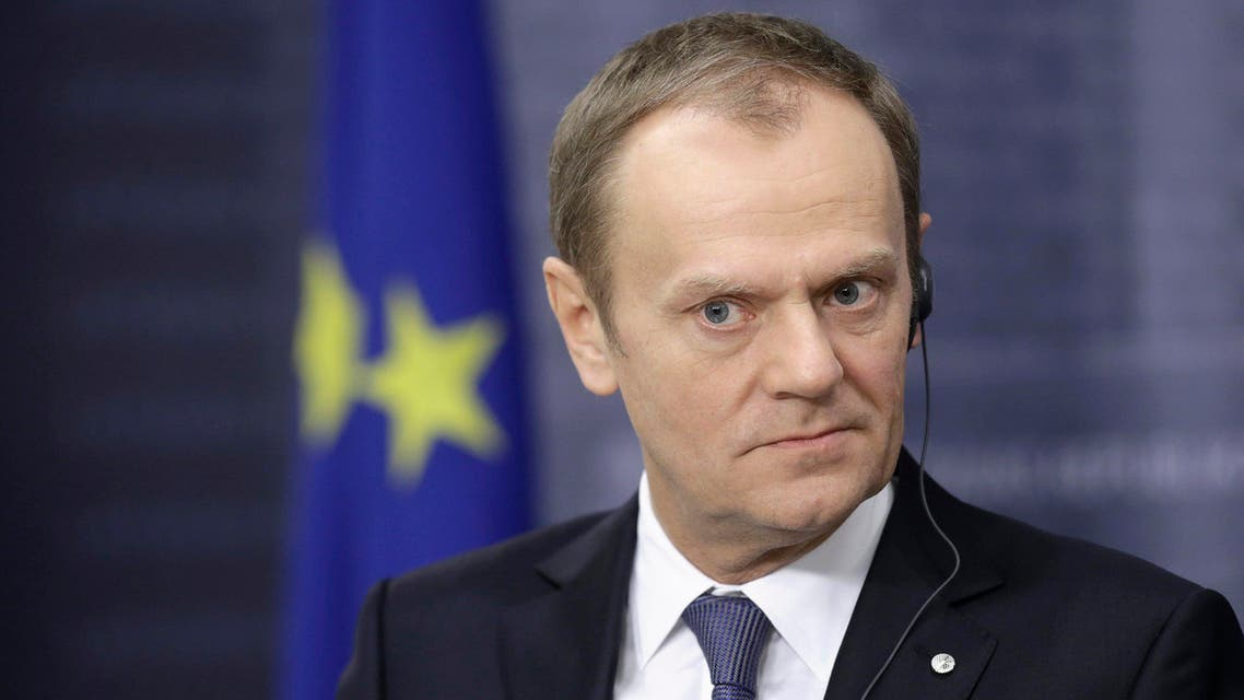 European Council President Donald Tusk listens during a news conference in Riga January 9, 2015. (Reuters)