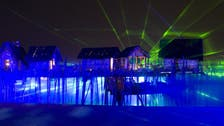 Art with heart: Pulse-controlled light beams pierce UAE skies