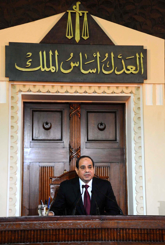 الرئيس السيسي في دار القضاء العالي