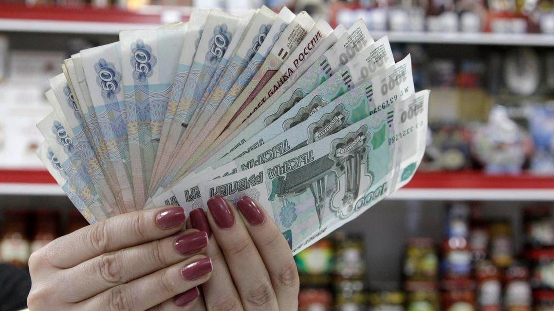 الروبل الروسي العملة الروسية روسيا عملة روسيا موسكو