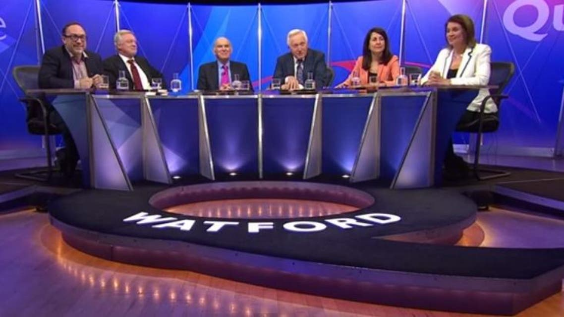 BBC question time YouTube still