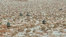 Snow blankets Saudi Arabian desert