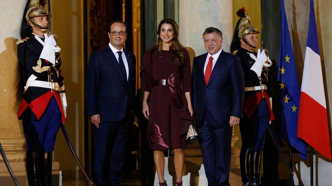 King Queen Jordan AFP