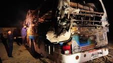 At least 57 killed in fiery Pakistan bus crash