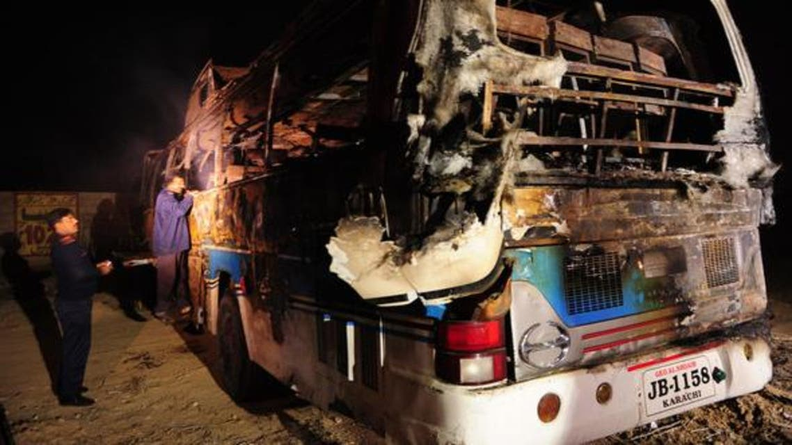 Paki Bus burned