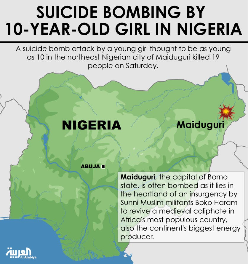 Infographic: Suicide bombing by 10-year-old girl in Nigeria