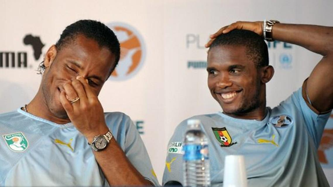 Drogba Etoo AFP