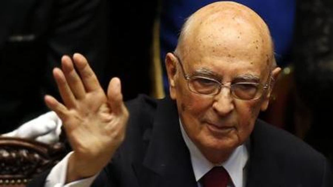 Napolitano had always been expected to step down before the end of his second term (File photo: Reuters)