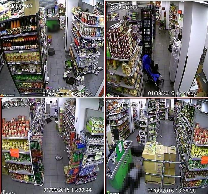 أربع صور التقطتها كاميرا المتجر من داخله، وظهر في إحداها قتيل سقط برصاص كوليبالي