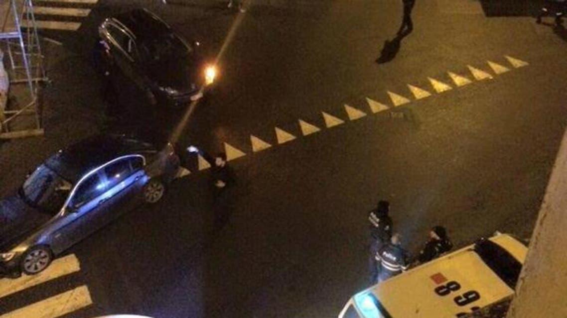 شرطة مكافحة الارهاب اثناء المداهمة في مدينة فيرفييه شرق بلجيكا