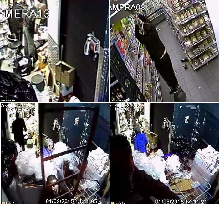 رهائن ظهروا داخل المتجر في صور التقطتها كاميرا المراقبة