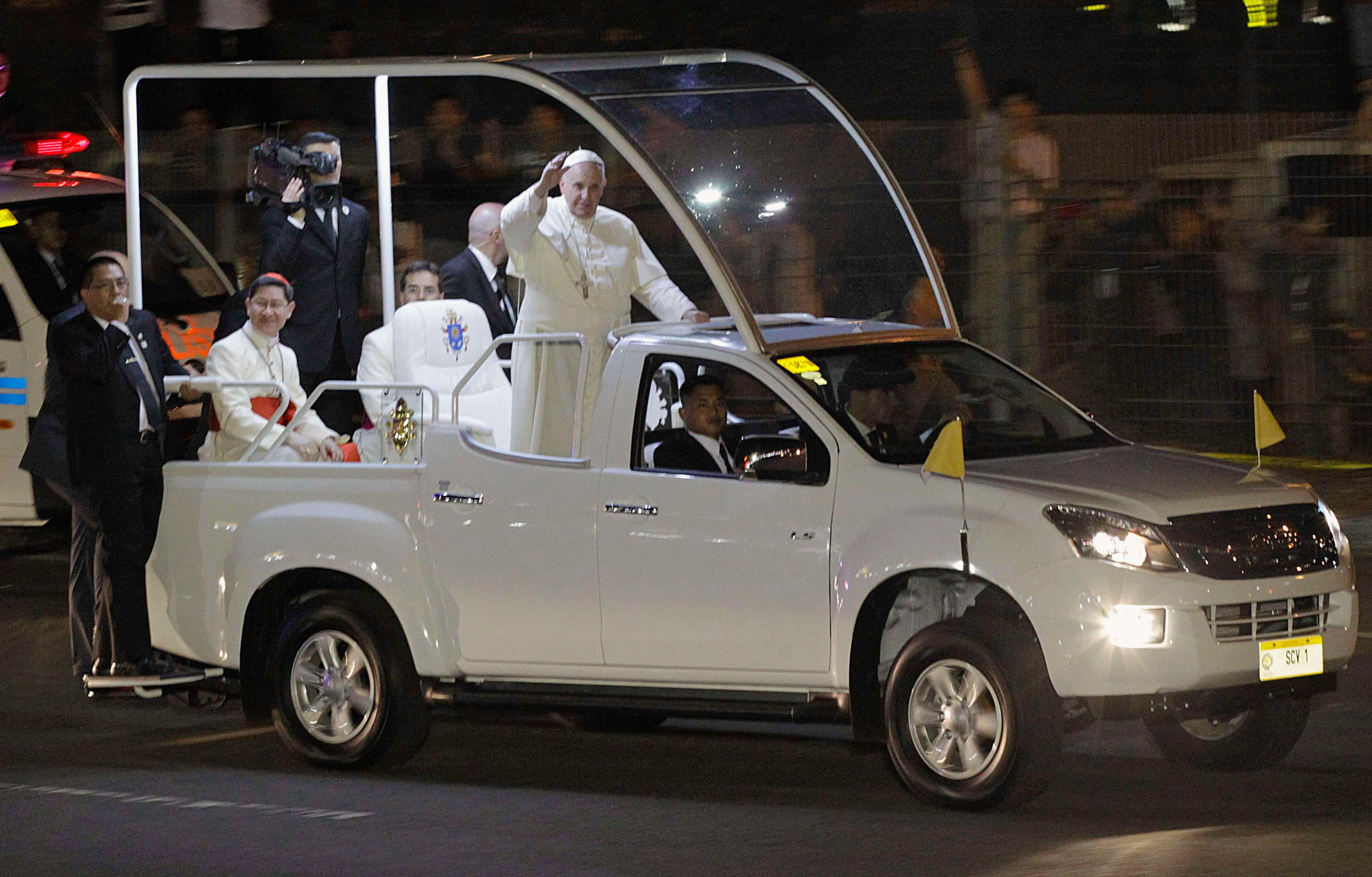 Pope visits the Philippines
