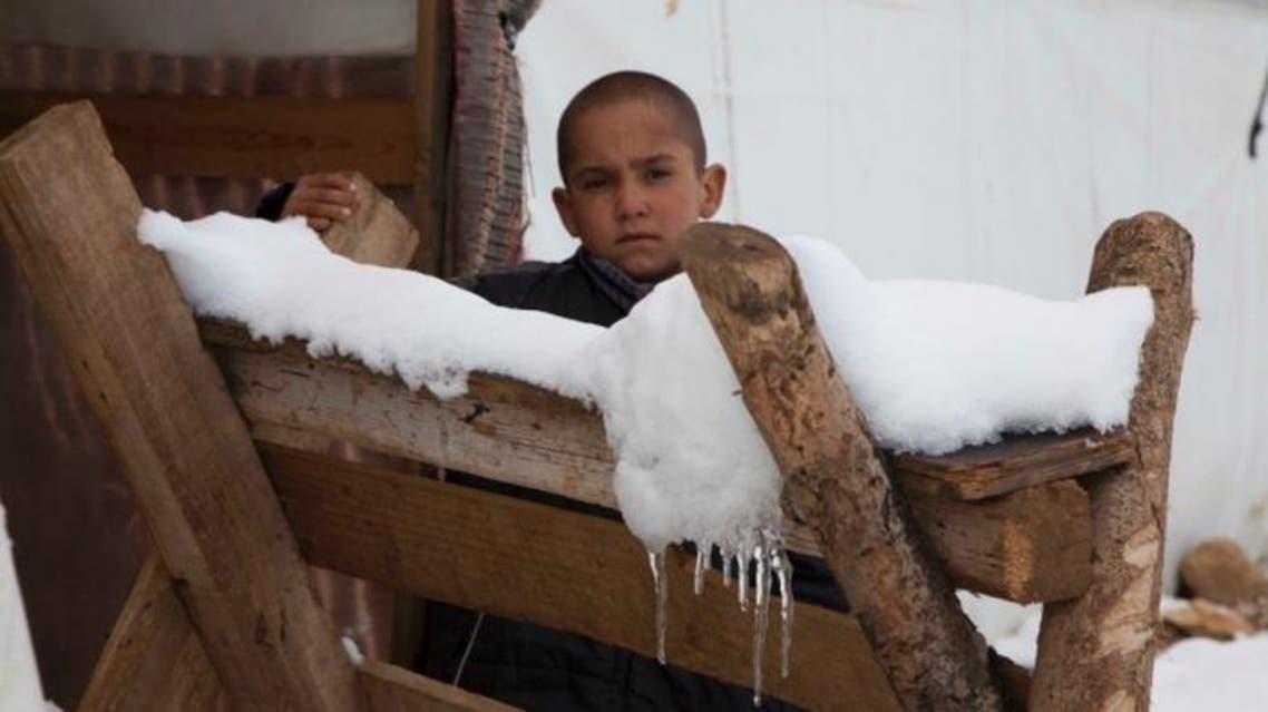 اللاجئون السوريون في قبضة الشتاء والثلج