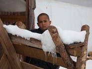 بالصور.. اللاجئون السوريون في قبضة الشتاء والثلج