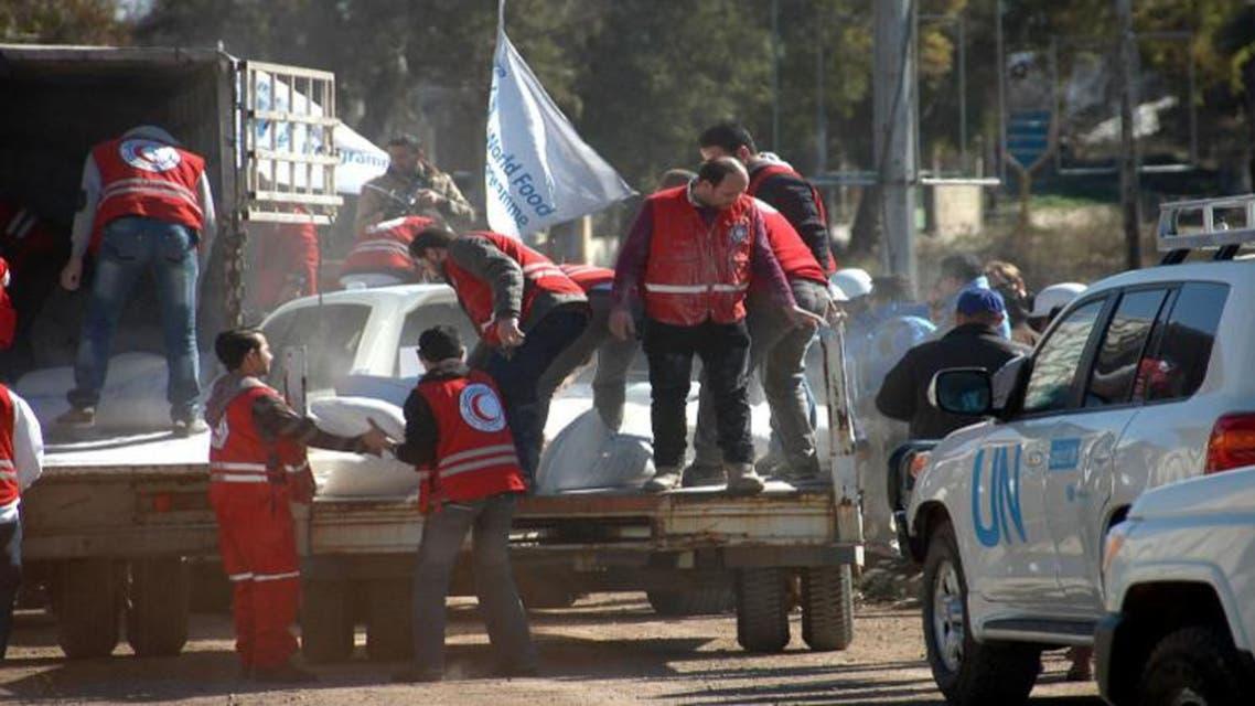 مساعدات غذائية تصل إلى حي الوعر في حمص